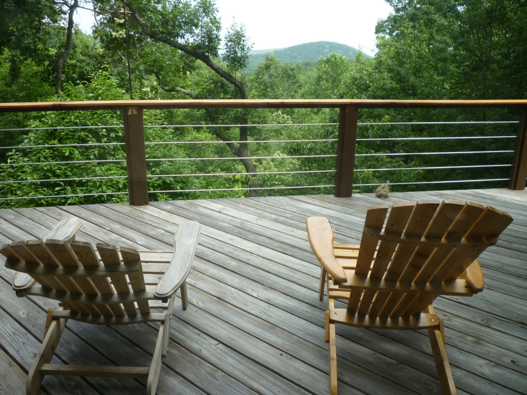 north ga mountain view from deck at Big Canoe